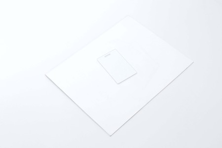 Portrait of tag card and magazine cover. Isolated on the white background. Stock fotó