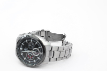 Picture of wrist watch. Isolated on white background.