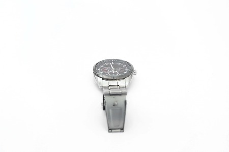 Picture of mens wrist watch. Isolated on the white background.