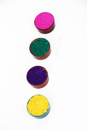 Picture of organic holi color for holi fun. Isolated on the white background.