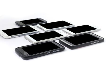 Picture of mobiles. Isolated on white background.