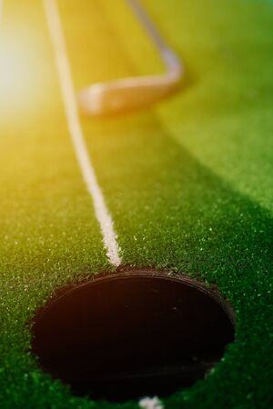 Picture of Golf Stick. Isolated on colorful background. 免版税图像