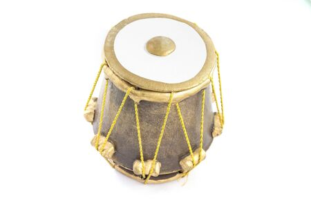 Picture of Musical Instrument Tabla Drum. Isolated on white background. Stock Photo