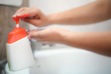 Wash hands with liquid soap gently to stay prevent from backterias and infections