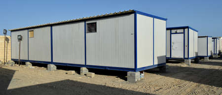 porta cabin for labours, new construction