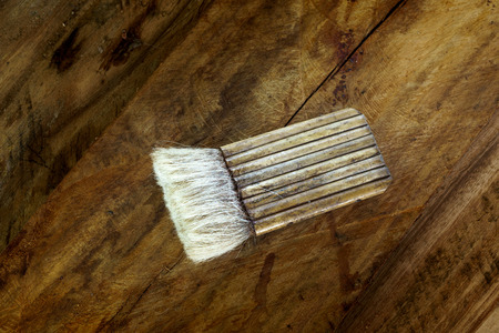 carpenter's sawdust: Brush for wood work in vintage style