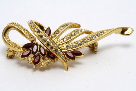 Brooch in White background photo