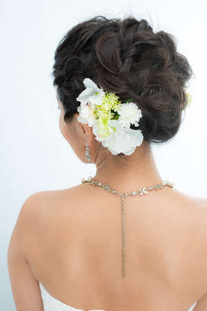 Woman wedding hairstyle
