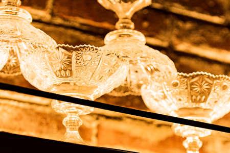 Ornamented glass tableware
