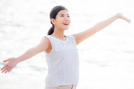 Women's Health Image White Glowing Sea Background