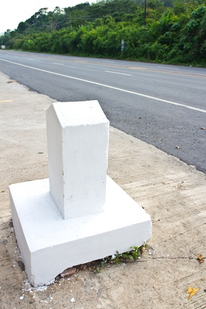 milestone on the road photo