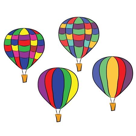 hot air: colorful hot air balloons  Illustration