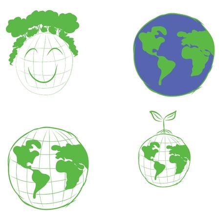 Green earth Stock Vector - 16593202