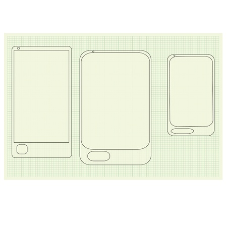 new phone  Vector