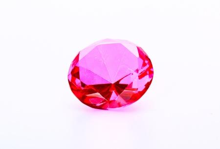 Pink gem Stock Photo