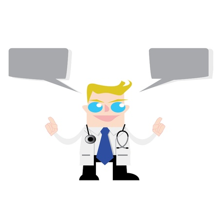 knowledgeable: Doctor with Speech Bubble, grouped for easy editing  No open shapes or paths
