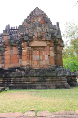 sand stone castle, phanomrung in Buriram province, Thailand. Religious buildings constructed by the ancient Khmer art.