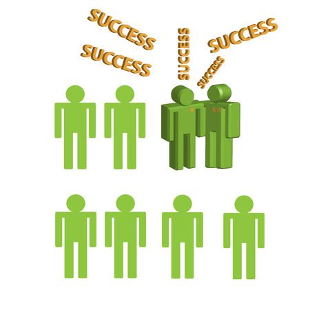 3d person human character - Congratulation, Success  Vector illustration Vector