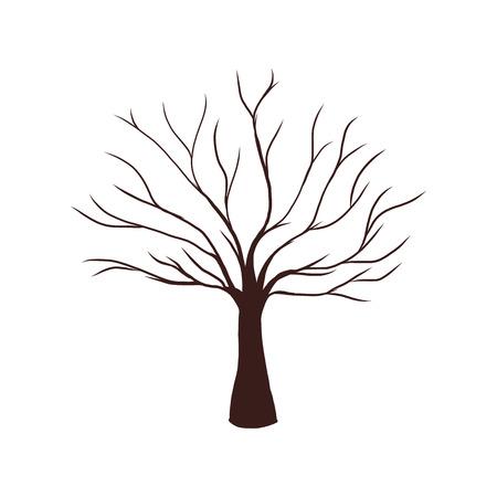 Dode boom zonder bladeren vectorillustratie