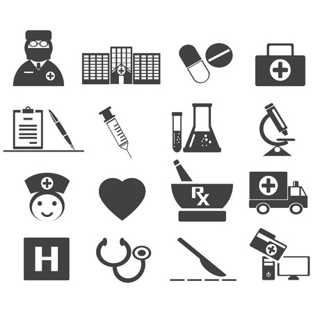 infirmary: medical icon set vector