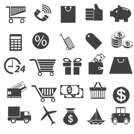 shopping icon set vector Vector