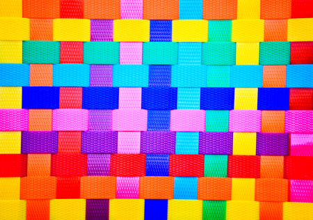 colorful wall plastic line photo