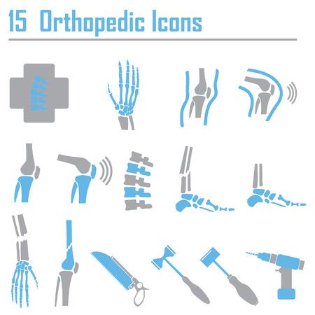 Orthopedic and spine symbol - vector illustration