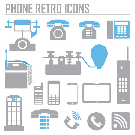 phone set simple icon vector illustration