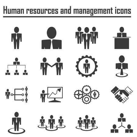 corporate hierarchy: Business and Human resources and management icons