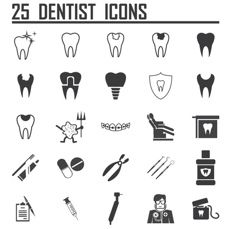 25 Dental Icons Vector
