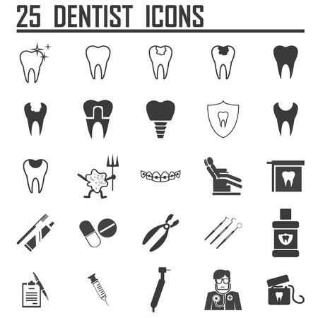 25 Dental Pictogrammen