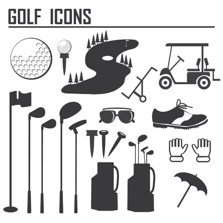 golf icons design over white background vector illustration Vector