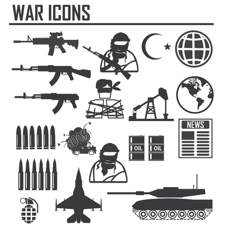 war icon illustration vector sign and symbol Vettoriali