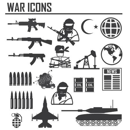 oorlog pictogram illustratie vector teken en symbool Stock Illustratie