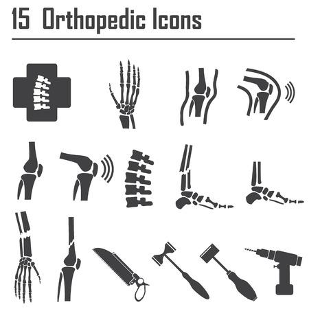 spina dorsale: 15 ortopedico e della colonna vertebrale simbolo - illustrazione vettoriale