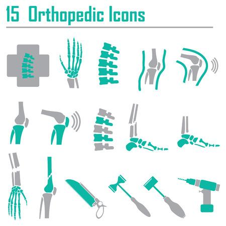 脊椎: 15 整形外科と脊椎シンボル ベクトル イラスト  イラスト・ベクター素材