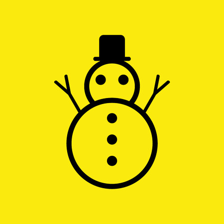 stove pipe: Illustration of a cute black and white Christmas Snowman