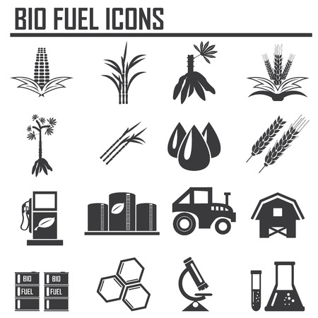 Vector concept of biofuels refinery plant Illustration