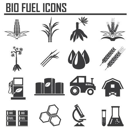 azucar: Vector concepto de biocombustibles planta de refiner�a