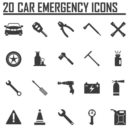 mutual assistance: CAR EMERGENCY ICONS