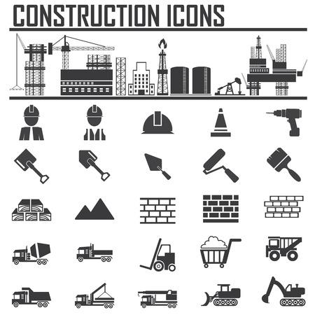 Construction Icons set.Illustration EPS10 Vector
