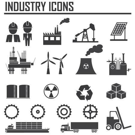 Industrie Ikonen Vektorgrafik