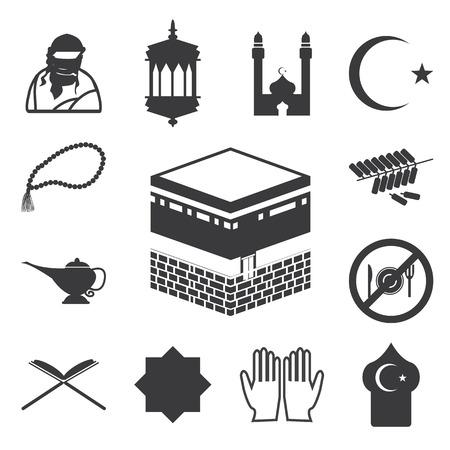 Islamic website icons set. EPS 10.