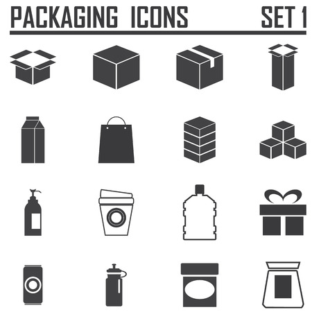 packaging icons Vettoriali