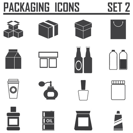 food packaging: packaging icons Illustration