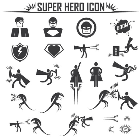 superhero icons Vector