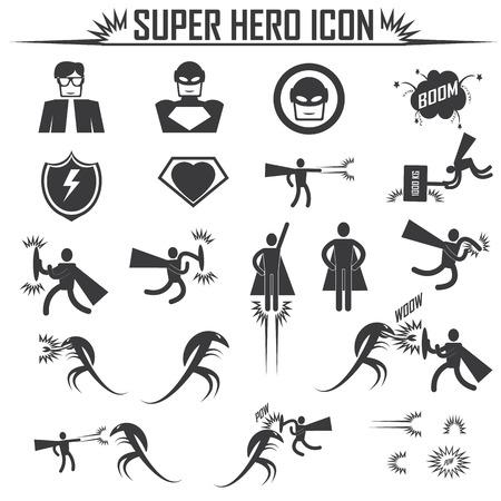 flying man: superhero icons