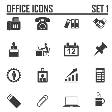 filing documents: business & office icons