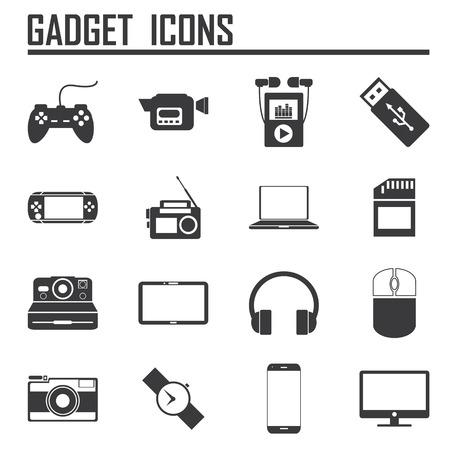 gadget icons, mono vector symbols, illustation EPS 10 Vector