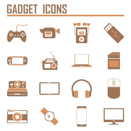 handheld device: gadget icons, mono vector symbols Illustration